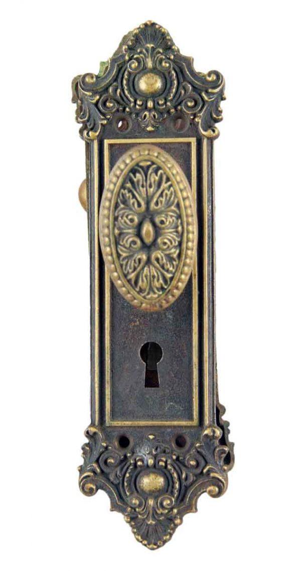 Door Knob Sets - Antique Yale & Towne Louis XVI Bronze Door Knob Set