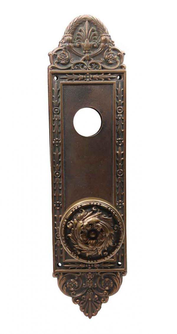 Door Knob Sets - Bronze Barrows Entry Arcola Door Knob Set with Back Plates