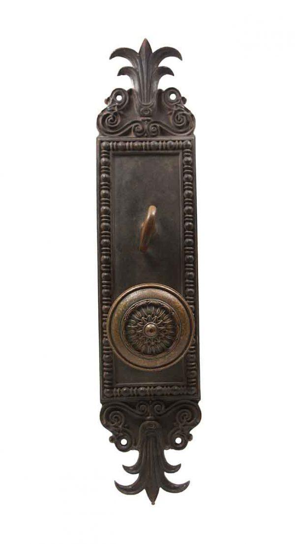 Door Knob Sets - Bronze Olympus Door Knob & Back Plate Set