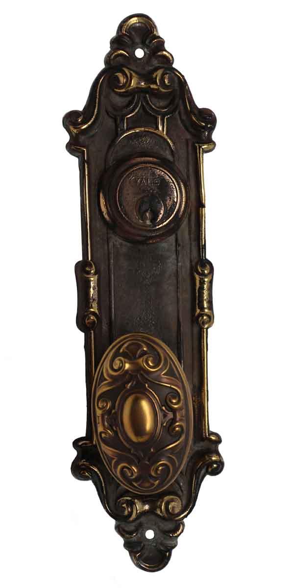Door Knob Sets - Bronze Yale & Towne Meridian Door Knob & Back Plate Set