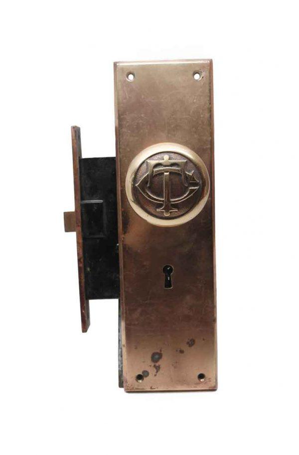 Door Knob Sets - Corbin P-49200 TC Bronze Door Knob and Lock Set
