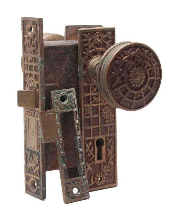 Door Knob Sets - JB Schroder Vernacular Bronze Door Knob Set
