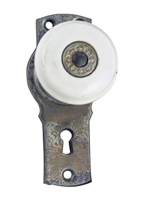 Door Knob Sets - Vintage Breeland Porcelain & Nickel Door Knob Set