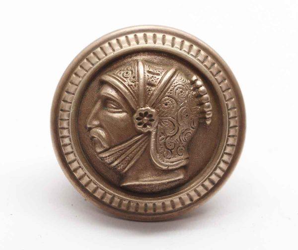 Door Knobs - A-31120 Bronze Greek Head Door Knob