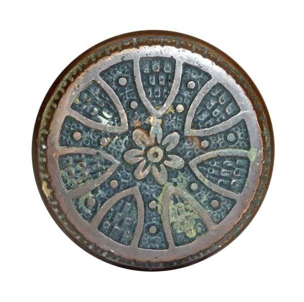 Door Knobs - Antique Radial Vernacular Bronze Entry Door Knob