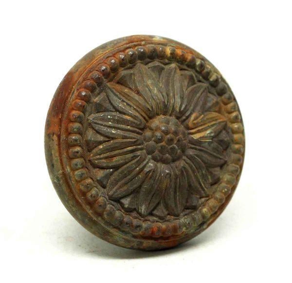 Door Knobs - Bronze Collectors Quality Radial Floral Door Knob