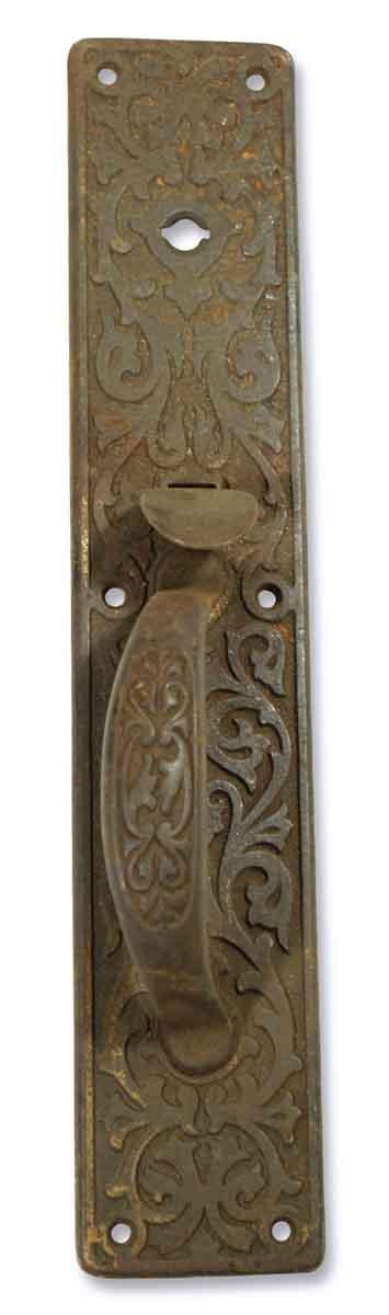 Door Pulls - 1900s Sargent Cast Iron Ornate Door Pull