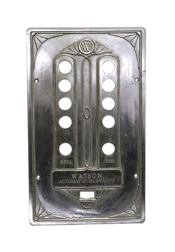Elevator Hardware - Antique Art Deco Watson Automatic Elevator Plate
