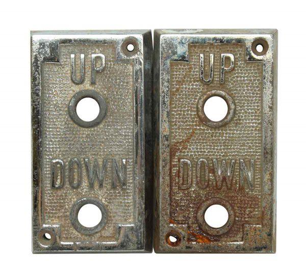 Elevator Hardware - Chrome Elevator Up & Down Indicator Plate