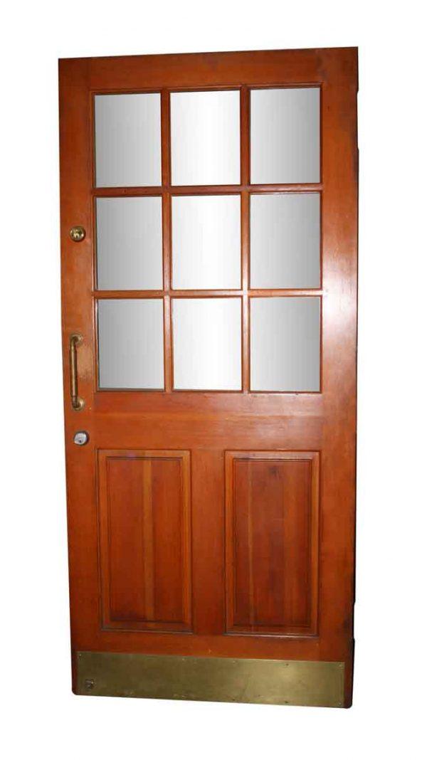 Entry Doors - Antique 9 Lite 2 Panel Fir Wood Door 80.25 x 35.75