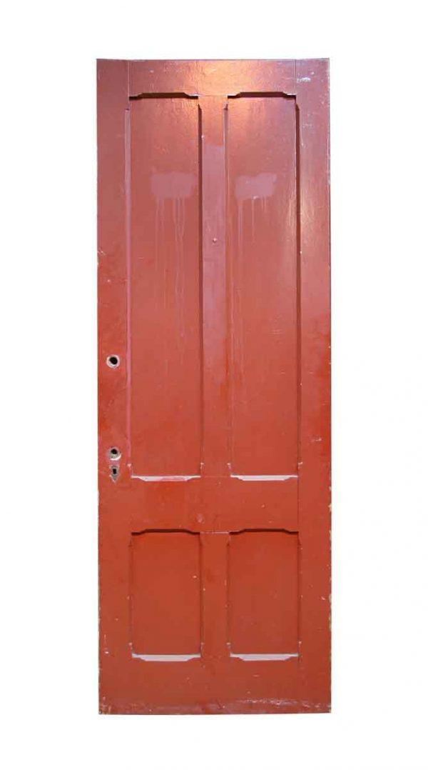 Entry Doors - Antique Four Panel Pine Entry Door 94.75 x 34