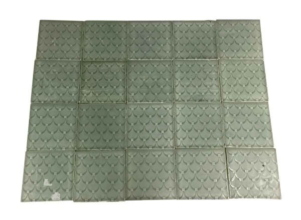 Fireplace Surrounds - Antique Green Scalloped 6 in. Fireplace Surround Tile Set