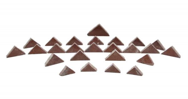 Floor Tiles - Set of Small Burgundy Triangular Tiles