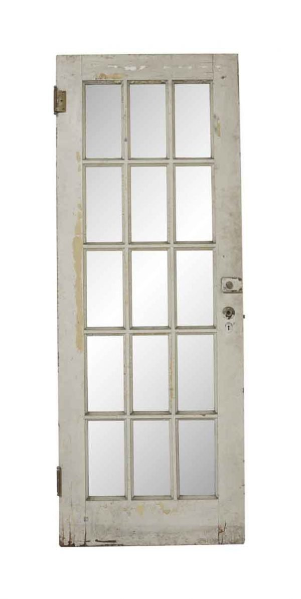 French Doors - Antique 15 Lite French Pine Door 80 x 29.75