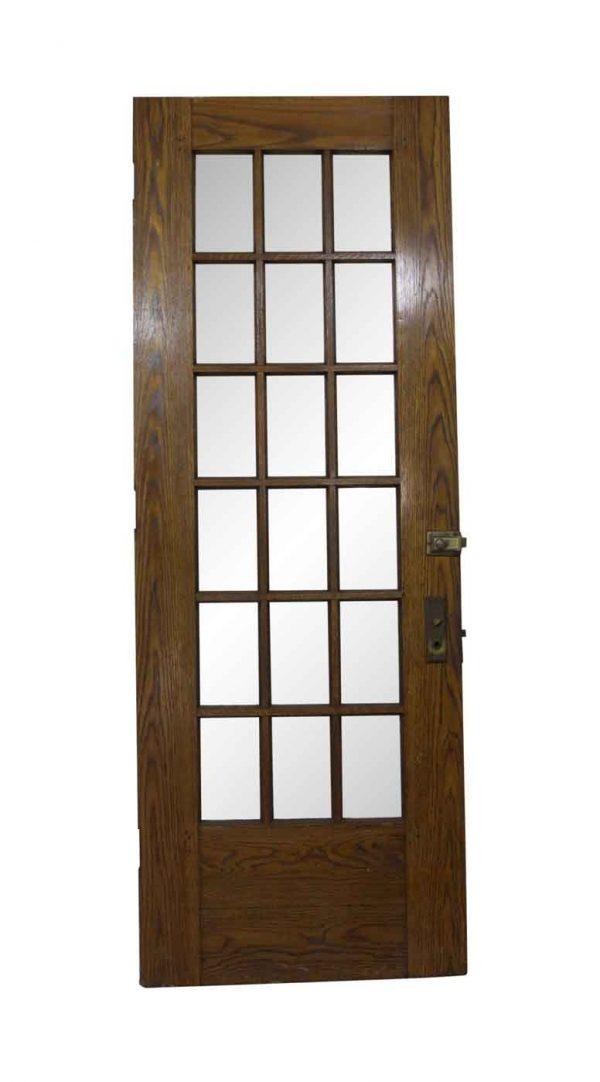 French Doors - Antique 18 Lites Oak Front Door 84.25 x 34.25
