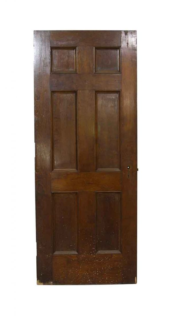 Hooks & Racks - Vintage 6 Panel Chestnut Interior Door 79.75 x 32