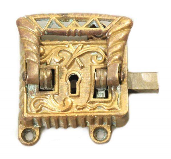 Ice Box Hardware - Vintage Victorian Bronze Ice Box Latch
