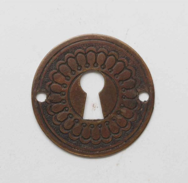 Keyhole Covers - Antique Radial Bronze Keyhole Cover