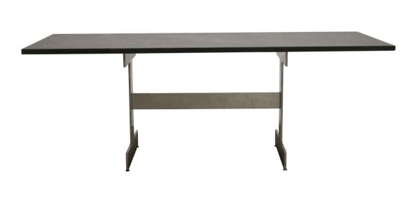 Kitchen & Dining - Modern 7 ft Conference Black Slate Top Table