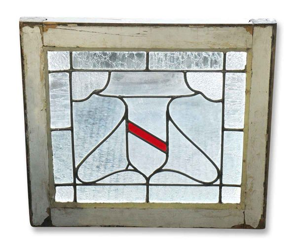 Leaded Glass - Leaded Glass Window with Center Shield