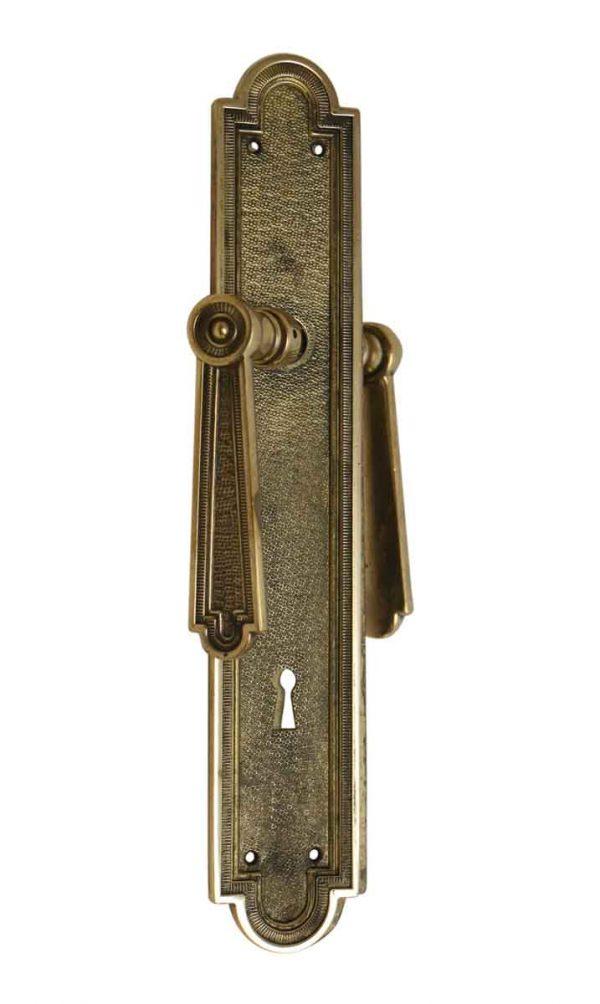 Levers - Bronze French Lever Door Knob & Plate Set
