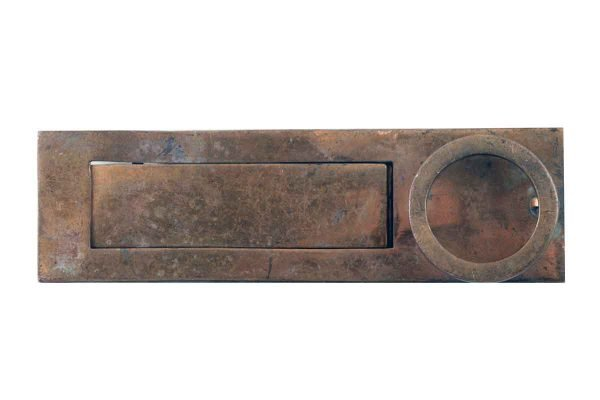 Mail Hardware - Copper Plated Door Letter Slot with Knocker