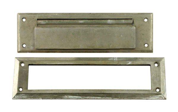 Mail Hardware - Nickel Plated Brass Benton Door Letter Slot