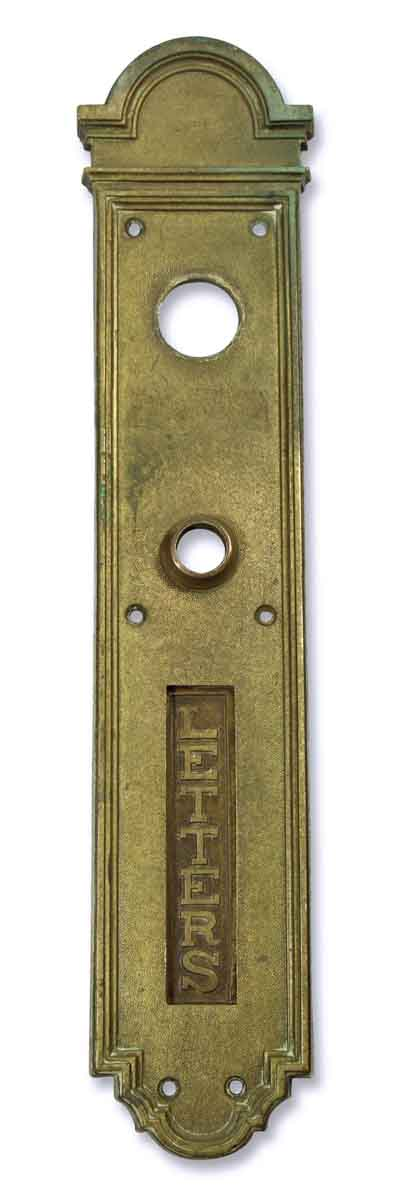 Mail Hardware - Russwin Door Push Plate with Letter Slot
