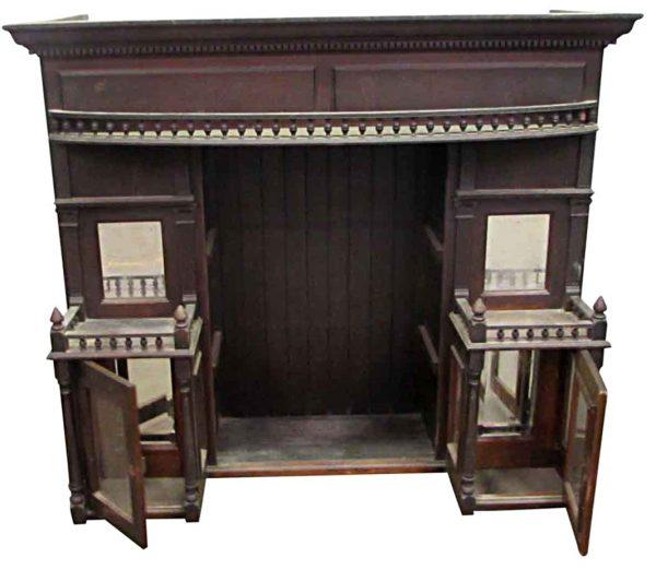 Overmantels & Mirrors - Victorian Mahogany Over Mantel Shelf