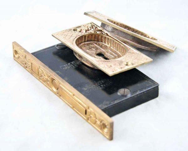 Pocket Door Hardware - Ornate Mortise Pocket Door Set