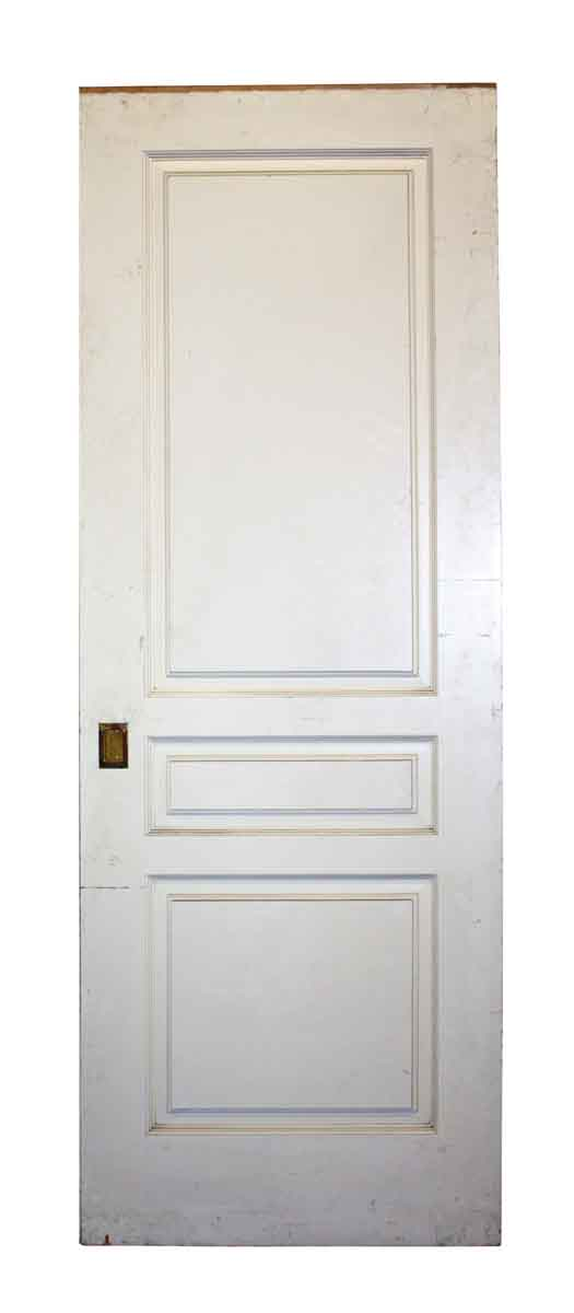 Pocket Doors - Antique 3 Panel Maple Pocket Door 93 x 34