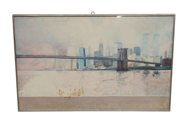 Posters - Vintage Brooklyn Bridge Framed Poster