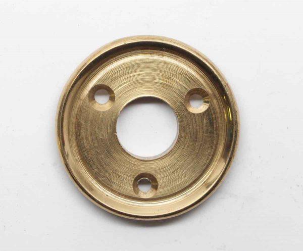 Rosettes - Fixed Base Brass Plated 1.875 Door Knob Rosette