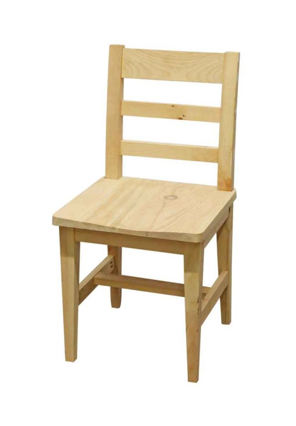 Seating - New Unfinished Natural Stain Wood Chair