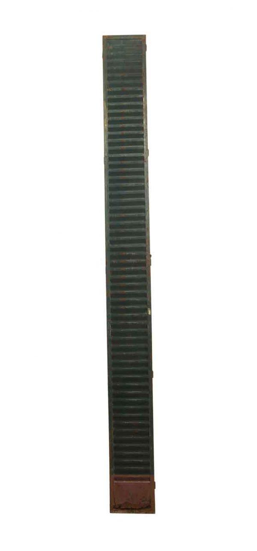 Shutters - Antique 10 Foot Tall Green Metal Shutter