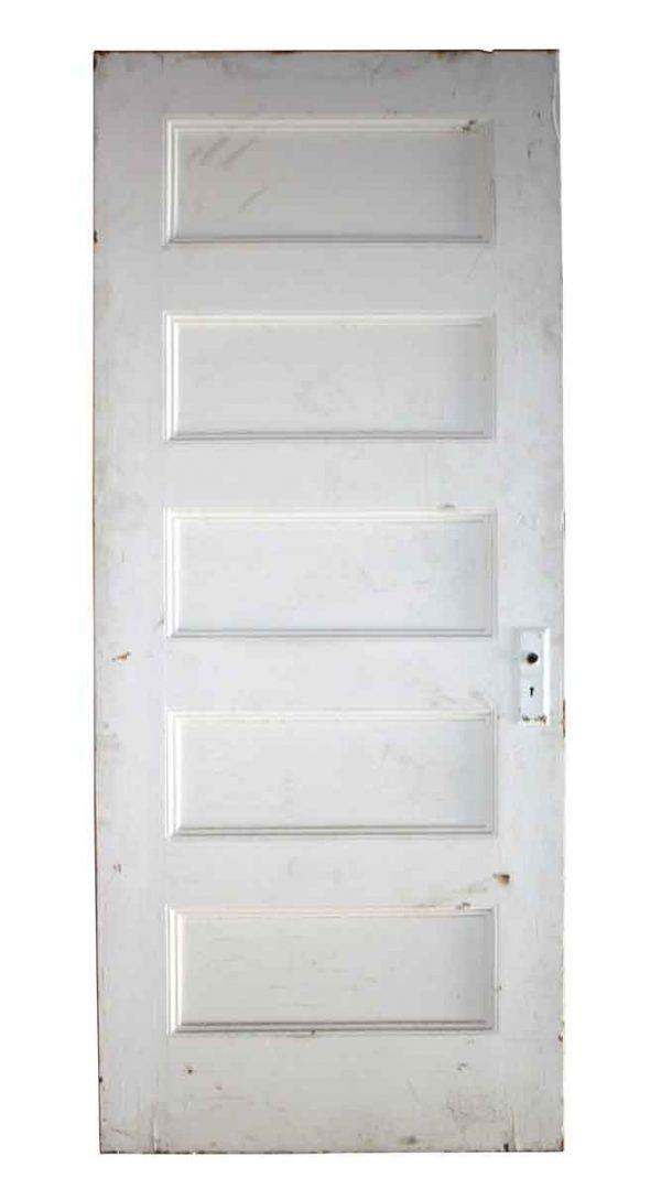 Standard Doors - 5 Panel Painted White Wood Antique Door 79.5 x 32