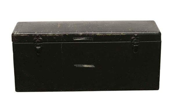 Trunks - Vintage Black Metal Storage Trunk