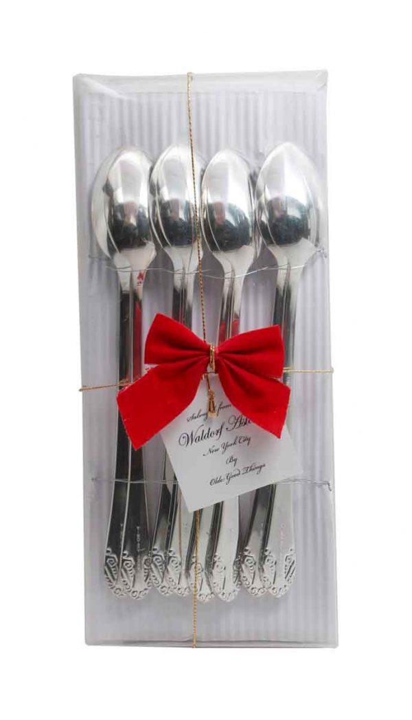 Waldorf Astoria - Salvaged Waldorf Brand New Art Deco Iced Teaspoon Gift Set