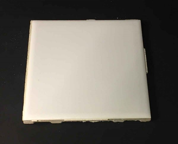 Wall Tiles - 1950s Plain White 4.25 in. Square Wall Tile