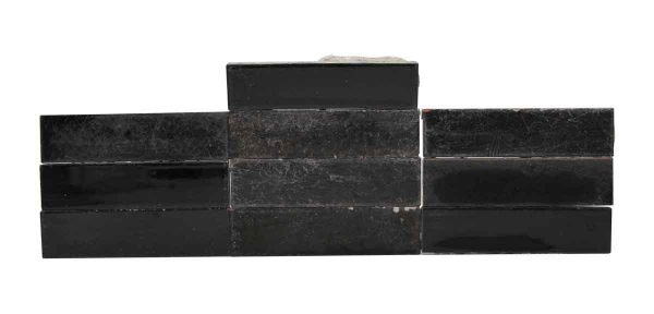 Wall Tiles - Set of 10 Long Black Tiles