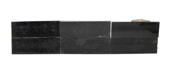 Wall Tiles - Set of Eight Black Shiny Tiles