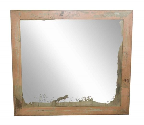 Wood Molding Mirrors - Antique Pink Wood Framed Distressed Mirror