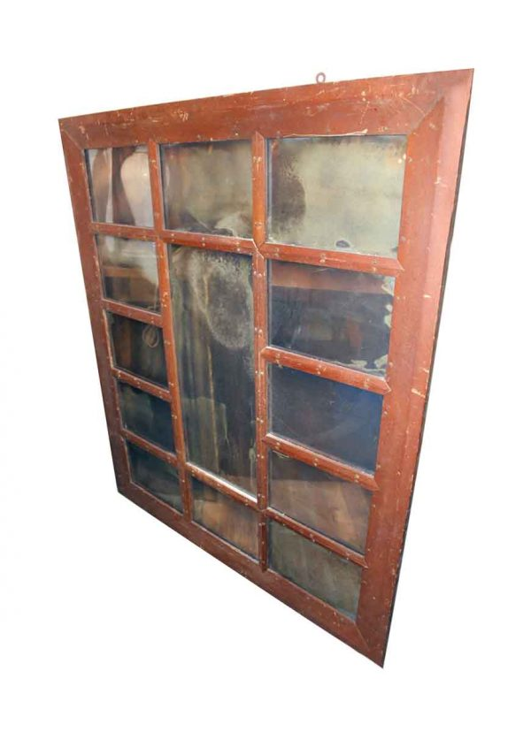 Wood Molding Mirrors - Arts & Crafts Window Frame with Mirrored Glass