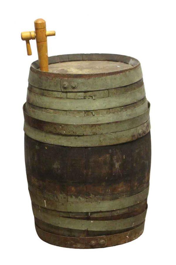 Barrels & Crates - Distressed Wooden Barrel with Spout