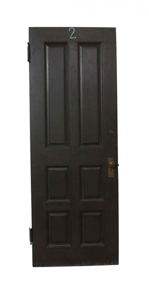 Commercial Doors - Antique 6 Panel Apartment Door 79.5 x 31.5