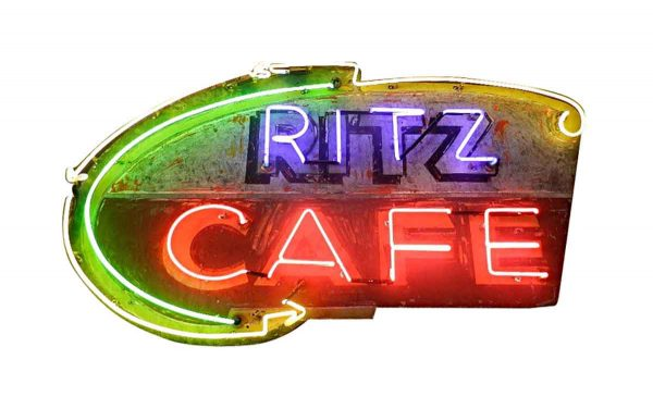 Commercial Furniture - Salvage Ritz Cafe Neon Sign
