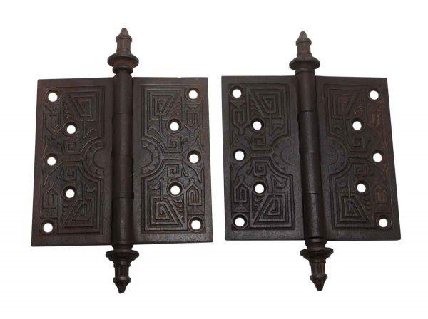 Door Hinges - Aesthetic Pair of 5.5 x 5.5 Cast Iron Butt Door Hinges