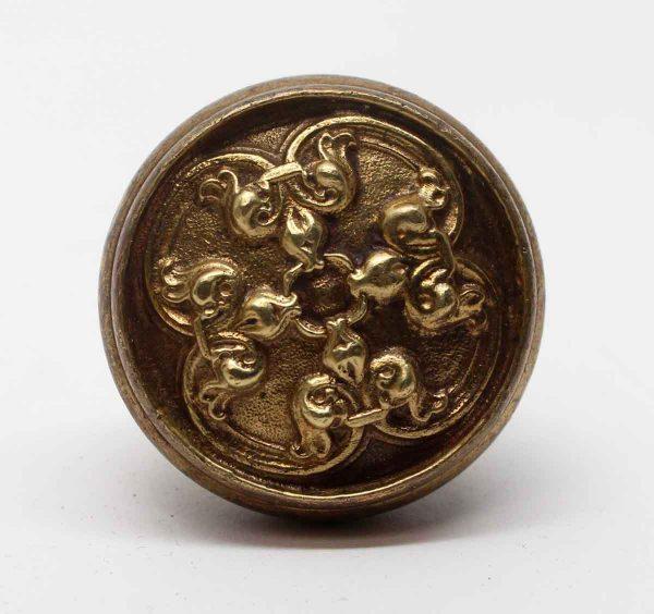 Door Knobs - Antique 4 Fold Tulip Brass Door Knob