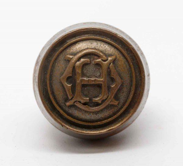 Door Knobs - Antique HO Emblematic Brass Door Knob
