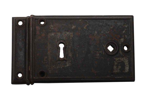 Door Locks - Antique 7.25 in. Cast Iron Rim Lock